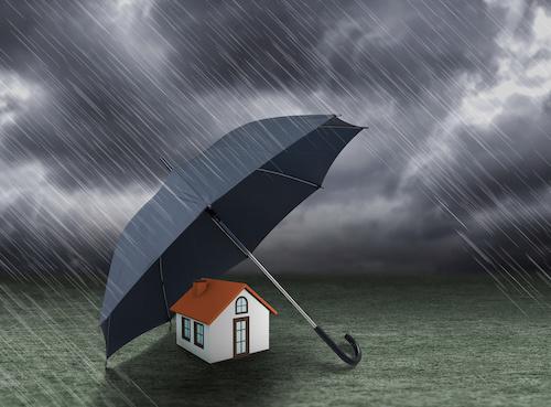 Sat Anlage nach Sturm von Versicherung reparieren lassen